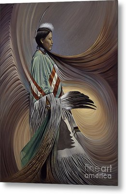 On Sacred Ground Series I Metal Print by Ricardo Chavez-Mendez