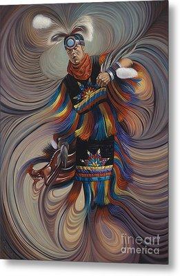 On Sacred Ground Series II Metal Print by Ricardo Chavez-Mendez