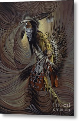 On Sacred Ground Series IIl Metal Print by Ricardo Chavez-Mendez