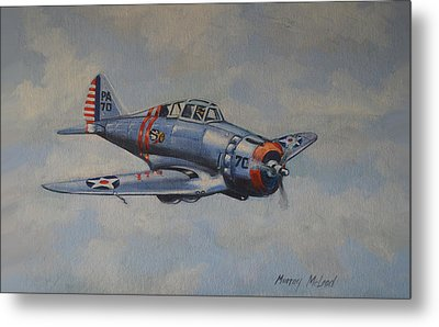 Metal Print featuring the painting On Silver Wings by Murray McLeod