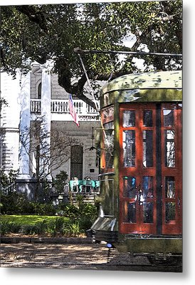 On The Avenue - Painted Metal Print by Cheri Randolph
