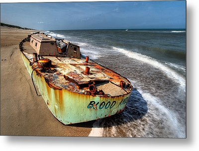 On The Beach I - Outer Banks Metal Print by Dan Carmichael