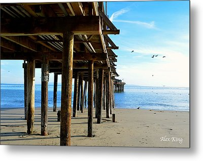 On The Beach In Capitola Metal Print by Alex King