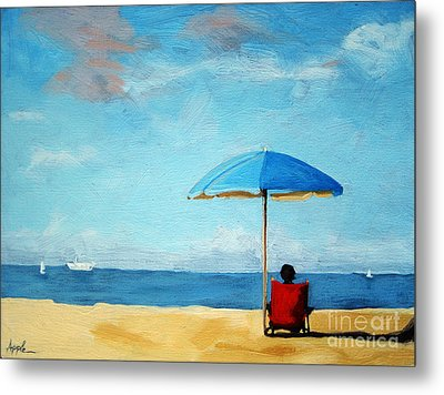 On The Beach - Special Time Metal Print by Linda Apple