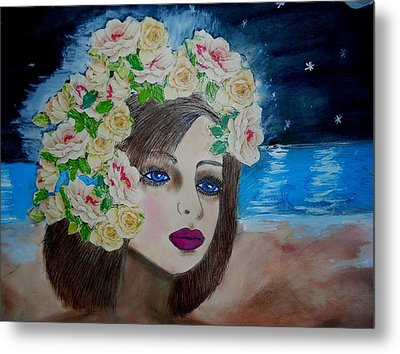 On The Beach Metal Print by Suzanne Thomas