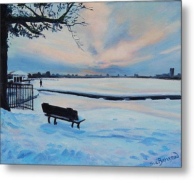 On The Charles Metal Print by Sue Birkenshaw