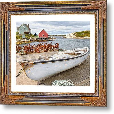 On The Dock Metal Print by Betsy Knapp