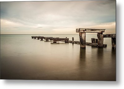 On The Dock Of The Bay Metal Print by Shari Mattox