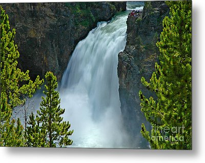 Metal Print featuring the photograph On The Edge by Nick  Boren
