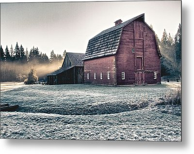 On The Farm Metal Print by Scott Holmes
