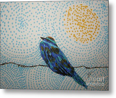On The Fence Metal Print by Marcia Weller-Wenbert