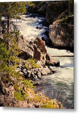 On The Firehole Metal Print by Marty Koch