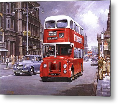 On The Golden Mile Metal Print by Mike  Jeffries