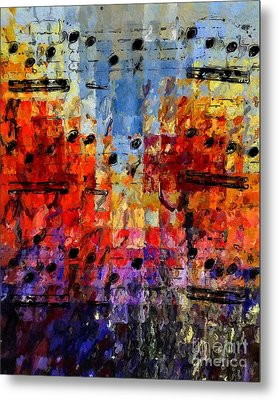 Metal Print featuring the digital art On The Grid 1 by Lon Chaffin