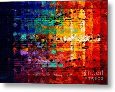 Metal Print featuring the digital art On The Grid 3 by Lon Chaffin