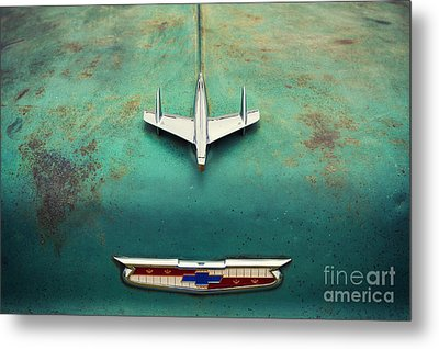 On The Hood  Metal Print by Tim Gainey