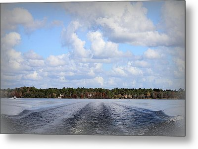On The Lake Metal Print by Debra Forand