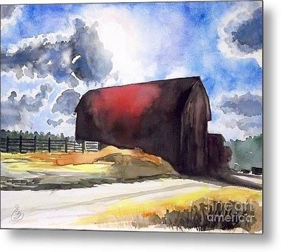On The Macon Road. - Saline Michigan Metal Print by Yoshiko Mishina