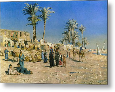 On The Outskirts Of Cairo Metal Print by Peder Mork Monsted