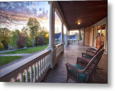 On The Porch Metal Print by Eric Gendron