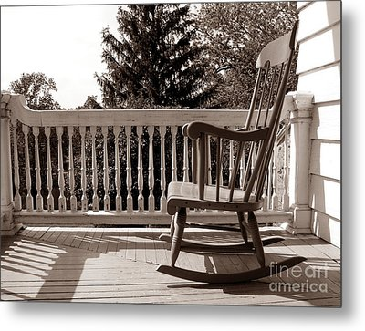 On The Porch Metal Print