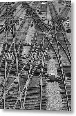 Metal Print featuring the photograph On The Right Track? by ELDavis Photography
