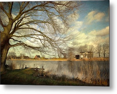 On The River Side Metal Print
