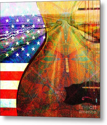 On The Road Again 20140716 Square Metal Print by Wingsdomain Art and Photography