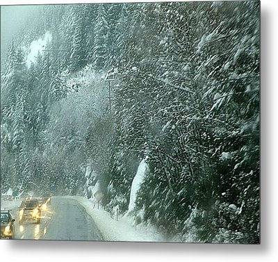 On The Road Again Metal Print by Janet Ashworth