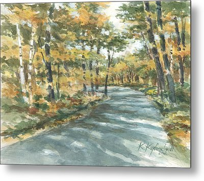 On The Road Home Metal Print by Kerry Kupferschmidt