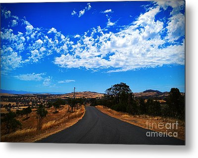 The Road To Nowhere  Metal Print by Naomi Burgess
