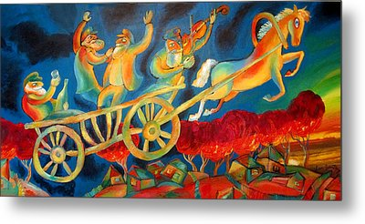 On The Road To Rebbe Metal Print by Leon Zernitsky