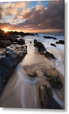 On The Rocks Metal Print by Mike  Dawson