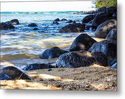 On The Rocks Metal Print by Suzanne Luft
