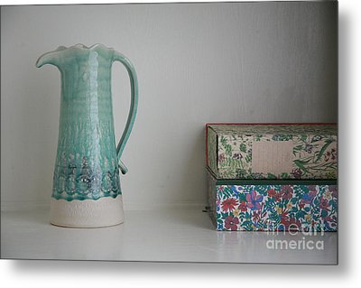 Metal Print featuring the photograph On The Shelf.... by Lynn England