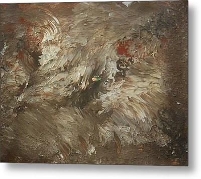 On The Side Of A Gravel Road Metal Print by Karen Lillard