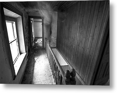 On The Stairs Metal Print by David Hollinger