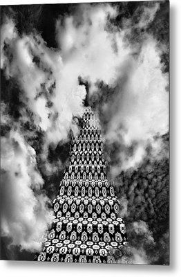 On The Stairway To Heaven Bw Palm Springs Metal Print by William Dey