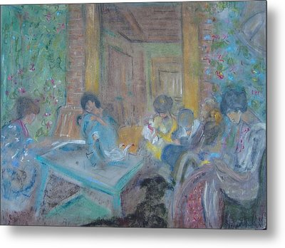 On The Terrace Metal Print by Karen Coggeshall