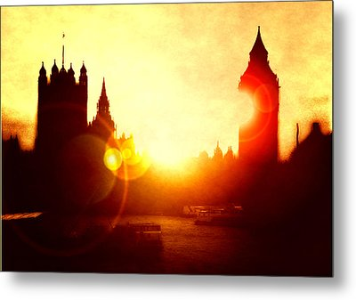 Metal Print featuring the digital art Big Ben On The Thames by Fine Art By Andrew David