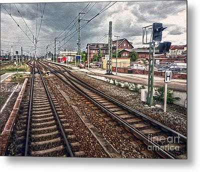 On The Tracks Metal Print by Gregory Dyer