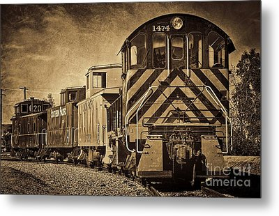 On The Tracks... Take Two. Metal Print by Peggy Hughes