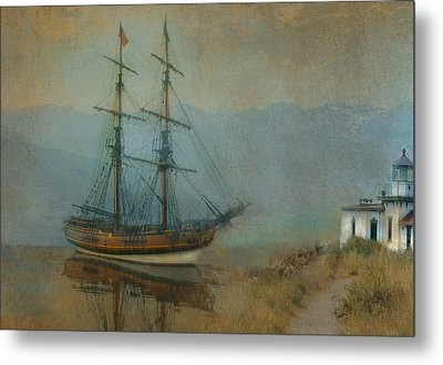 On The Water Metal Print by Jeff Burgess