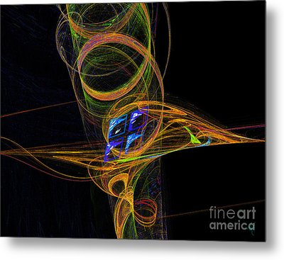 Metal Print featuring the digital art On The Way To Oz by Victoria Harrington