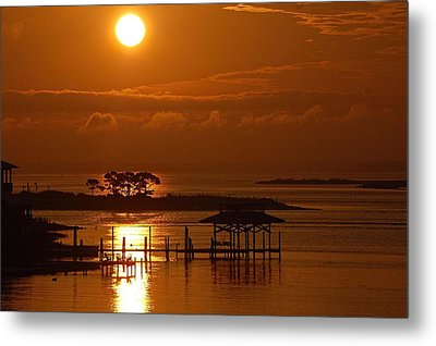 Metal Print featuring the digital art On Top Of Tacky Jacks Sunrise by Michael Thomas
