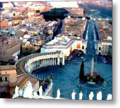 Metal Print featuring the digital art On Top Of Vatican 1 by Brian Reaves