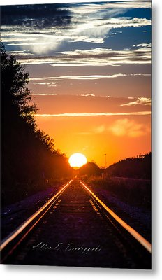 Metal Print featuring the photograph On Track by Allen Biedrzycki