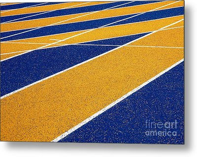 On Track Metal Print by Ethna Gillespie