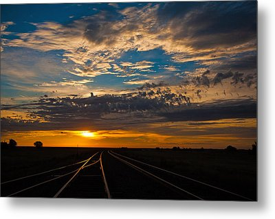On Track Metal Print by Shirley Heier