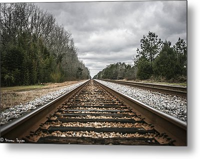On Track Metal Print by Steven  Taylor